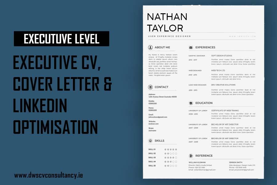 Executive Cv , Cover letter & LinkedIn Optimisation