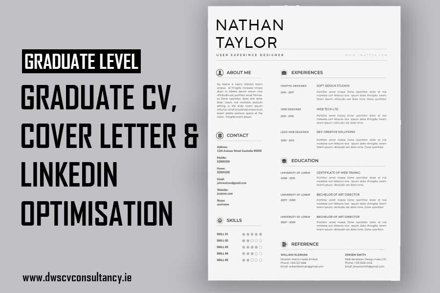 Graduate Cv, cover letter & LinkedIn