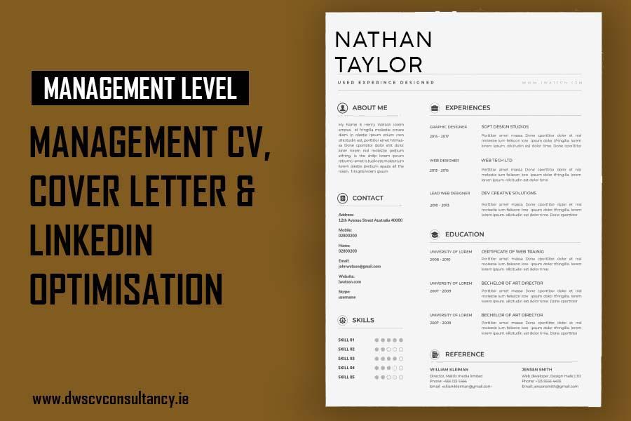 Management Cv , Cover letter & LinkedIn Optimisation