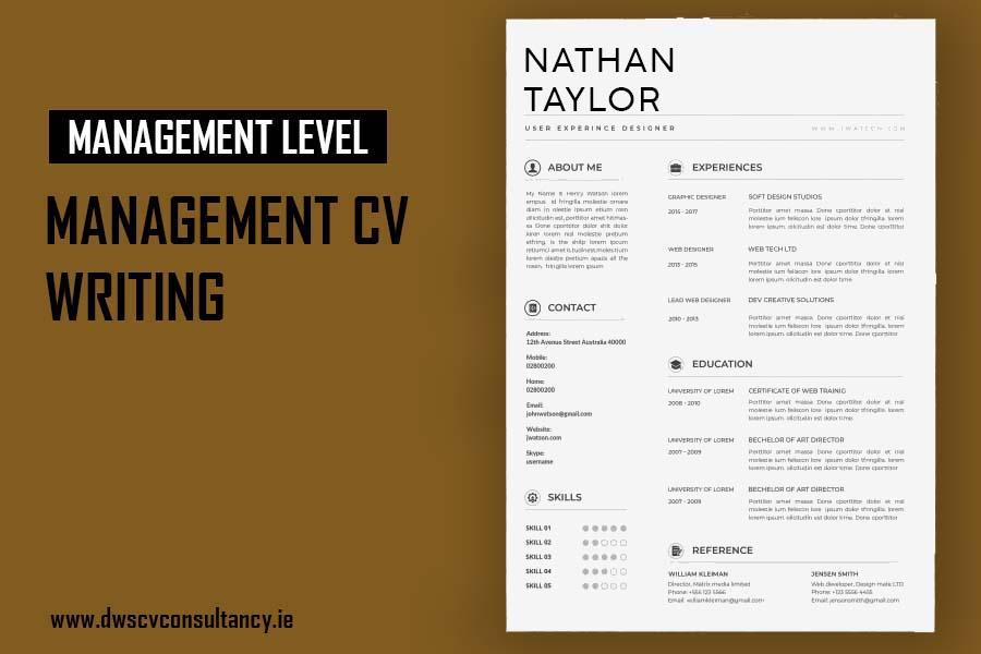 Management Cv writing