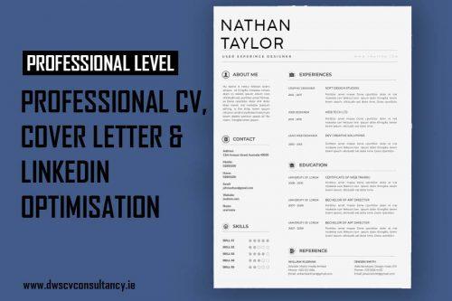 Professional Cv , Cover letter & LinkedIn Optimisation